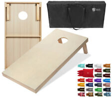 Tailgating Pros 4'x2' Cornhole Boards W Carrying Case 8 Cornhole Bags 25 Colors!