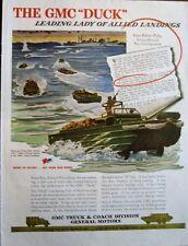 GMC Ducks Land in Anzio Beachhead  WWII Ad, Ernie Pyle Calls them Leading Lady
