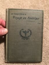 1909 DE TOCQUEVILLE'S VOYAGE EN AMERIQUE   Edited with Intro by: R. Clyde Ford