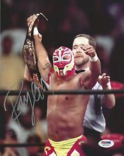 Rey Mysterio Signed WWE 8x10 Photo PSA/DNA COA Mask Picture w Belt Autograph AAA