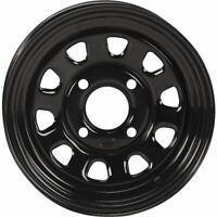Black 12x7, 4/156, 4+3 ITP Delta Steel Wheel - 1225579014