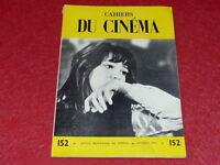 [REVUE LES CAHIERS DU CINEMA] N° 152 # FEVRIER 1964 JEAN COCTEAU EO 1rst Print.