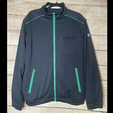 Mens Bmw High Performance Clothing Zip Up Track Jacket Sz L Multi Pockets Euc