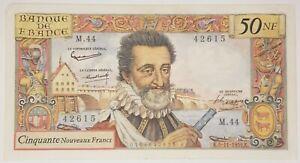 Billet de 50 Nouveaux Francs Henri IV, 5-11-1959