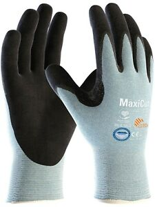 12 x MaxiCut Ultra 44-6745 Palm Coated KW Dyneema High Cut Protection Gloves
