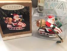 Hallmark Keepsake Ornament 1993 Santa's Snow-Getter * Snowmachine *