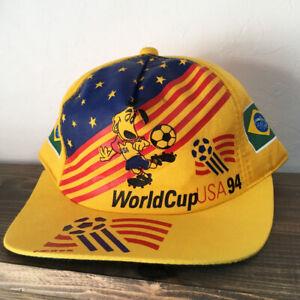 VTG FIFA World Cup 1994 USA BRAZIL NATIONAL TEAM SNAPBACK HAT