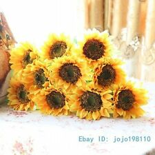 6 PCS Bouquet Artificial Sunflower Silk Flower Home Decoration NO VASE F135
