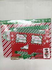 3 Christmas Nesting Tiered Cube Gift Boxes with Lids, Season's Greetings