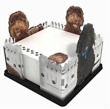 LABRADOODLE NOTE PAD HOLDER W/ STICKY NOTES POST IT MEMO ACRYLIC GIFT
