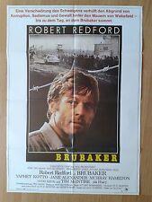 ROBERT REDFORD: BRUBAKER German 1-sheet  Prison film classic 1980