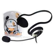 A4Tech HS-5P PC VOIP SKYPE Jack Headset With Built In Microphone In Black