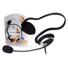 A4TECH hs-5p pc voip skype casque jack avec microphone intégré en noir