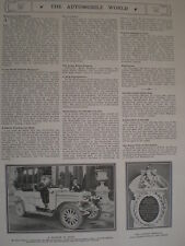 Printed photo Percy Warren & Daimler motor car Ghezireh palace Cairo Egypt 1907