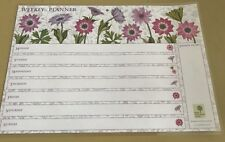 Laminated Weekly Planner Pink And Purple Wild Flowers  (17)
