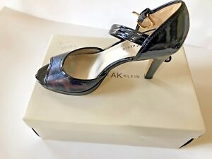 New in Box AK Anne Klein strappy high ankle animal print buckle heels 8 1/2 M