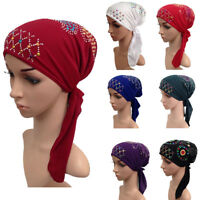 Muslim Women Hijab Hat Chemo Inner Cap Hair Loss Head Scarf Turban Wrap ss