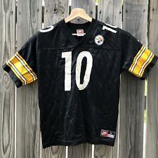 Nike NFL Pittsburgh Steelers Kordell Stewart Black Graphic Jersey Youth Large