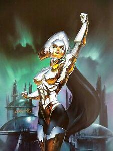 Marvel Comic Lilandra Artwork Lilandra Neramani GGA Female Superhero Telepathy