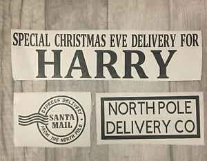 Personalised Christmas Eve Box Crate Vinyl Decal Xmas Family Any Name Sticker C1
