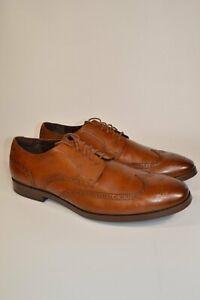 Cole Haan Men's Cognac Jefferson Modern Grand Wingtip Oxford 14M