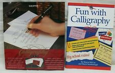 Sheaffer Calligraphy Set (2-Pens 3-Tips 6-Ink) + Fun With Calligraphy Book EXL!!