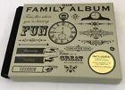 Black Life Canvas Our Family Album Hard Cover Record Family Memories Keepsake