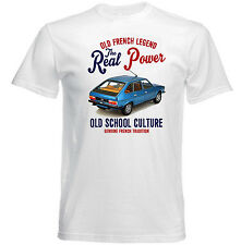 VINTAGE FRENCH CAR RENAULT 30TS - NEW COTTON T-SHIRT