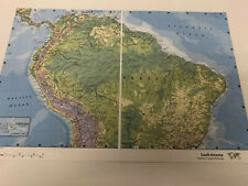 2007 Map of South America Northern South America Columbia Peru Panama Costa Rica