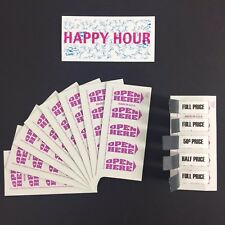 Happy Hour Drink Tickets Pull Tabs 1,000 Count Drink Special Bars & Restaurants