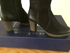 CAPRICE BOOTS 9-25500-21 WALKING ON AIR Black SIZE 5/38 3 INCH HEEL & ZIP