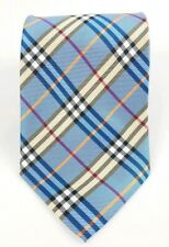 Athentic Burberry Classic Blue Check Silk Tie
