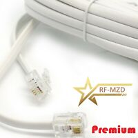 RJ11 ADSL Cable BT Broadband Modem DSL/Phone Router Lead 1m to 30m White RFM Lot