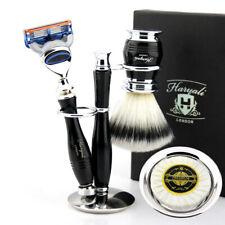 Luxury Men Shaving Kit Barber Salon Men's Shave Set Shaving & Grooming Box BLACK