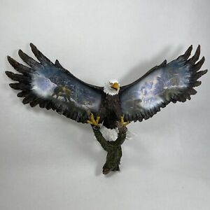 Bradford Exchange Bald Eagle Snow Rider Soaring Spirits Wall Ornament 2006 RARE