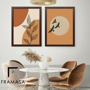 Black Mahogany Picture Frame Flat Wooden Poster Frame A1 A2 A3 A4 A5 All Size