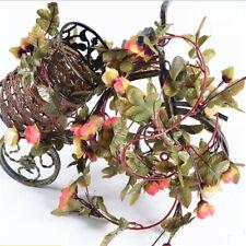 Falso rosas de seda de 220cm Colgante de Hiedra Vid Artificial Flor Boda Fiesta Decoración