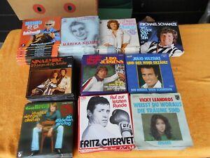 400 neuwertige Singles aus Lagerbestand, 10 Interpreten 1 Titel x 40 Singles