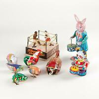 Wind Up Vintage Animal Christmas Gift Retro Tin Toy Mini Collectable Clockwork