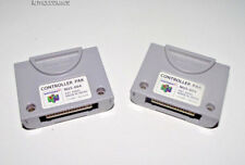 2 x Genuine Nintendo N64 Controller Memory Pack Card Pak Original Formated