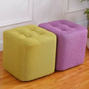 Fabric Stool as Footstool or Sitting Stool Classic Look Fabric Stool Light Color
