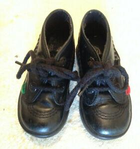 Infant Girls Kickers, Black Shoes/ Boots  infant size 5, EU 22