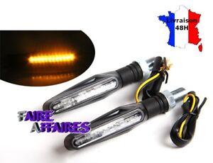 Paire 2 Clignotants à LED adaptables compatibles toutes motos / scooters