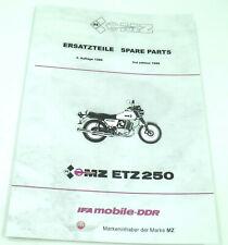 Ersatzteilkatalog MZ ETZ250