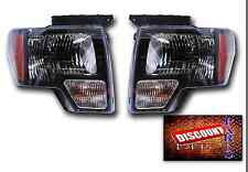 NEW 2009 2010 2011 2012 2013 2014 Ford F-150 RAPTOR Style Black outline Headlamp