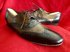 GUCCI Brown Two-Tone Leather Brogue Wingtip Oxfords Vintage Shoes Men 44/US 10E