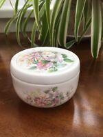 Vintage STAFFORDSHIRE  Lidded Trinket Pot. Fine Bone China. Sugar Dish/Jam Pot