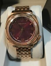 Vince Camuto 44mm Men's Brown Sunray dial and a Ridged Bezel Watch VC/1099BYRG