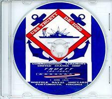 USS Truett DE 1095 Commissioning Program 1974 on CD Navy Plank Owners