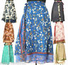 20 Mid-Calf Length Vintage Silk Sari Magic wrap skirts dress Wholesale lot SW1